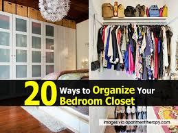 Ways To Organize Your Bedroom Closet - Organize bedroom closet