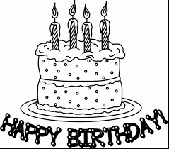 Small Picture Great happy birthday cake coloring page with happy birthday