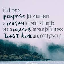 God Has A Purpose For Your Pain Your Daily Verse