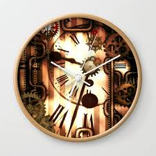 gears vintage design wall clock