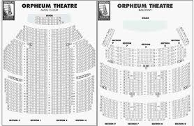 Hamilton Seating Chart Lovely Orpheum Theater Seating Chart
