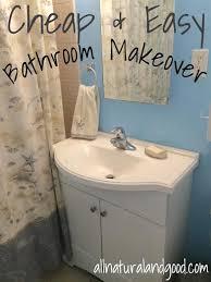 cheap bathroom makeover. cheap \u0026 easy bathroom makeover t