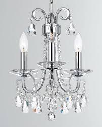 othello 3 light clear crystal polished chrome mini chandelier