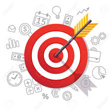 Arrow Hits Target Center Dartboard Arrow And Icons Business