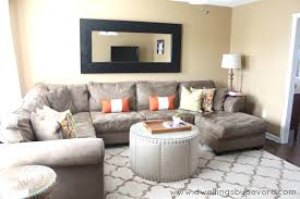 ... Dwellings Devore Sectional In Small Room Level Shelf Pull Big Impact  Right Improvised Second Client Redesign ...