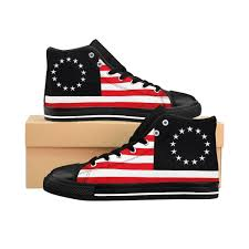 Betsy Ross Mens High Top Sneakers See Size Chart Before Purchasing
