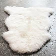 waysoft eco friendly genuine new zealand sheepskin rug luxuxry genuine fur rug