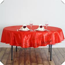57inch satin tablecloths round table covers red table spread party decorations many color can choose party table cloth table covers for weddings from