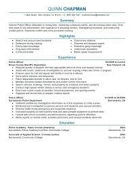 police officer resume examples no experience trendy design 1 best example  download polic