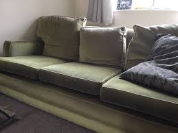 green three seater sofa and chair harrods made