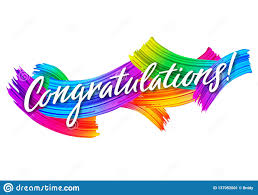 Congratulations Design Congratulations Banner With Colorful Paint Brush Strokes