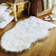 small ivory faux sheepskin rug land of rugs for designs fur premium accent throw