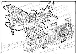 Kleurplaat Lego Vliegtuig En Boot