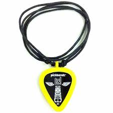 new pickbandz necklace with silicone guitar pick holder pendant mellow yellow free