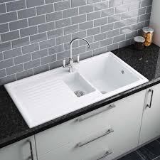 reginox white ceramic 1 5 bowl kitchen sink rl301cw new lh i 7d amazing