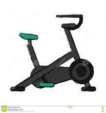 Sport Stationnaire De Dessin De Gymnase De Machine De Bicyclette