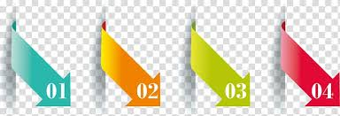 Four Assorted Color Arrow With Numbers Illustration Chart