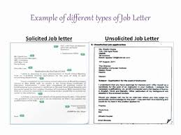 Solicited And Unsolicited Cover Letter Sample Professional Resume