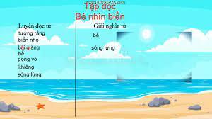 Tuần 25 - Tập đọc - Lớp 2 - Bài Bé nhìn biển