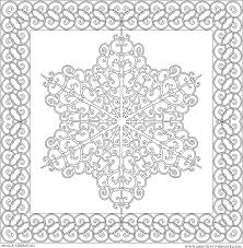 Snowflake Mandala Coloring Pages For Kids And For Adults