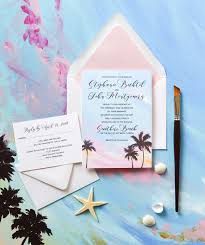 Beach Invitation Tropical Sunset Beach Wedding Invitations