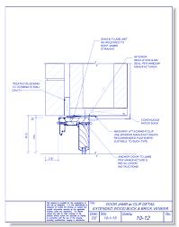 door jamb detail.  Detail CAD Drawings Fox Blocks Door Jamb With Clip Extended Wood Buck And Brick  Veneer In Detail U