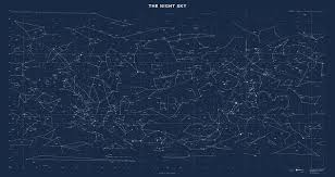 Constellation Sky Chart Sky Chart Map Of Stars And Constellations Art Print
