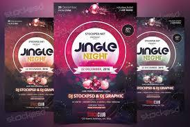 Flyers Theme Jungle Night Free Psd Flyer Xmas Theme Free Psd Flyer
