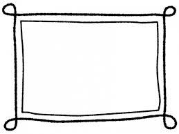 白黒の手書き風のシンプルなフレーム飾り枠イラスト04 無料イラスト