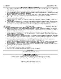 Food And Beverage Manager Resume Examples