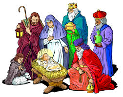 Image result for christmas creche cartoon images