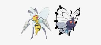 Pokemon Beedrill Evolution Chart Mega Beedrill And Mega Butterfree Pokemon Butterfree Mega