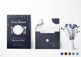 dinner template elegant team dinner invitation template