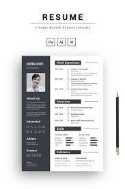 Modern Resume Color 2 Pages Modern Resume Template New Website Templates