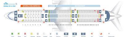 seat map and seating chart klm boeing 787 9 dreamliner new world business layout