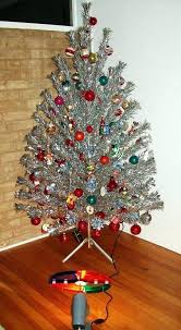 Rotating Christmas Tree Light Wheel I Was Fascinated With These Tinsel Trees The Color When A Kid We Never Had One But