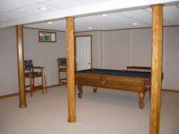 basement finishing design. White Basement Finishing Design With Drywall And Diy Drawing Also Wooden Billiard Table