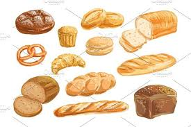 loaf of bread drawing. Plain Drawing Bread And Bakery Product Watercolor Drawing Set Graphics Bread  Set Fresh Loaf Of Bread Baguette Croissant Cupcake  On Loaf Of Drawing E