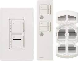 Combination Light And Fan Switch Lutron Maestro Ir Fan Control And Light Dimmer For Incandescent And Halogen Bulbs With Ir Remote Control And Wallplate Single Pole Or
