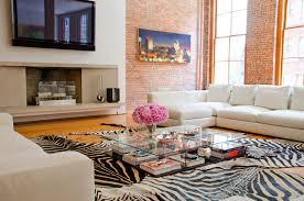Zebra Print Living Room Home Design Modern Interior Designed In Safari Theme Safari
