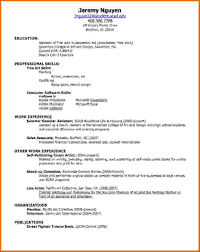 make a simple resumes