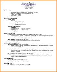 create simple resume