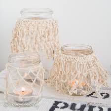 make these easy diy macrame jar lanterns yourself