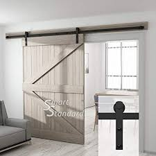 10ft heavy duty sliding barn door hardware kit for wide opening or two openings