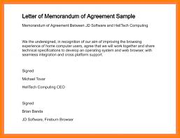 sample agreement letters how to write an agreement letter sample letters mandegar info