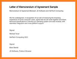 sample agreement letters how to write an agreement letter sample letters mandegar info