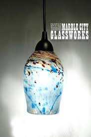 blown glass pendant lights modern lighting for kitchen epic with blue