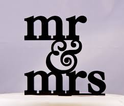 Mr And Mrs Wedding Cake Topper With Ampersand Design 3 Mr Etsy
