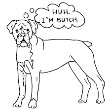 Boxer Dog Coloring Pages Print Coloring