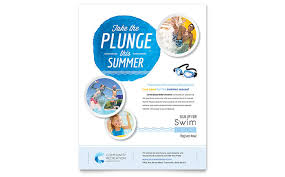 Community Swimming Pool Flyer Template Word Publisher